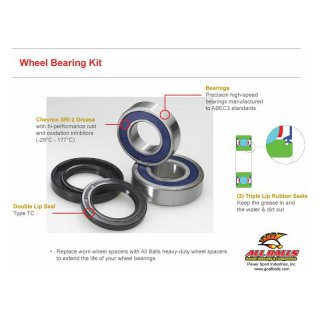Wheel Bearing - Seal Kit Ducati 1000 Paul Smart 06, 620 Monster 02-06, 620 Multistrada 06, 695 Monster 07-08, 696 Monster 08-09, GT 1000 07-09, SPORT 1000 06-09, SPORT 1000 S 06-09, ST2 944 98-03, ST3 992 04-07, ST4 916 00-05