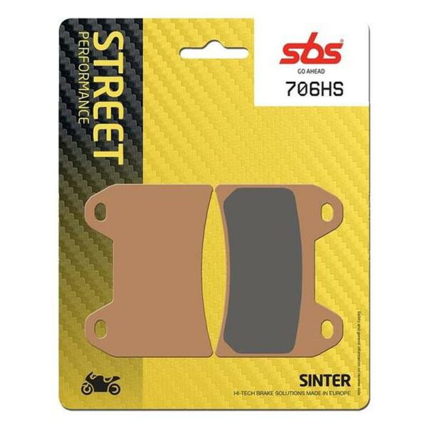 SBS Street Excel Sinter REAR Brake Pads for Triumph 2300 Rocket III 3 2004-2013