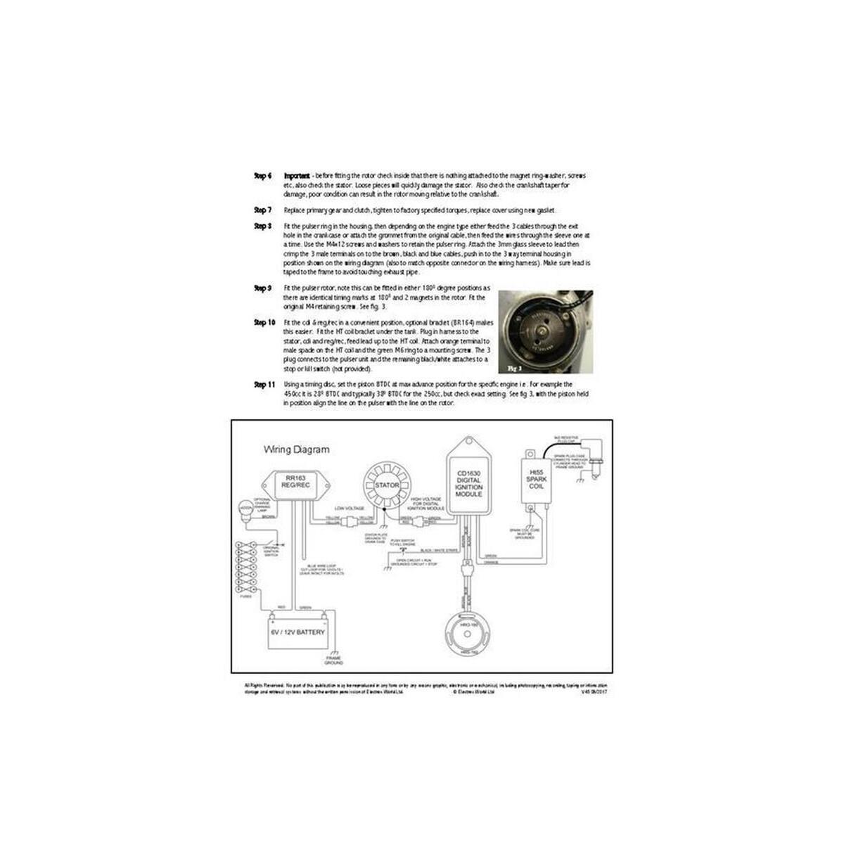 Stk 164 12 Volt Wide Case Ducati Singles Self Generating Digital Cdi Ignition Alternator 120w Kit