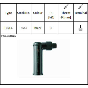 8160 4x RESISTORE NGK SPARK PLUG CAP LB05EMH ROSSO
